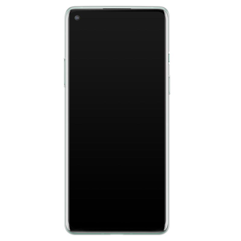 Casimoda OnePlus 8 siliconen telefoonhoesje - Parelmoer marmer