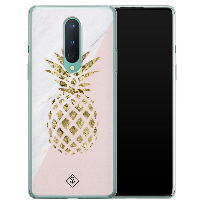 Casimoda OnePlus 8 siliconen hoesje - Ananas