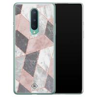 Casimoda OnePlus 8 siliconen telefoonhoesje - Stone grid
