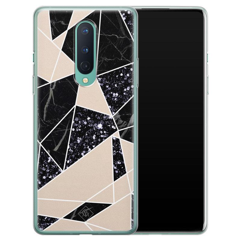 Casimoda OnePlus 8 siliconen telefoonhoesje - Abstract painted