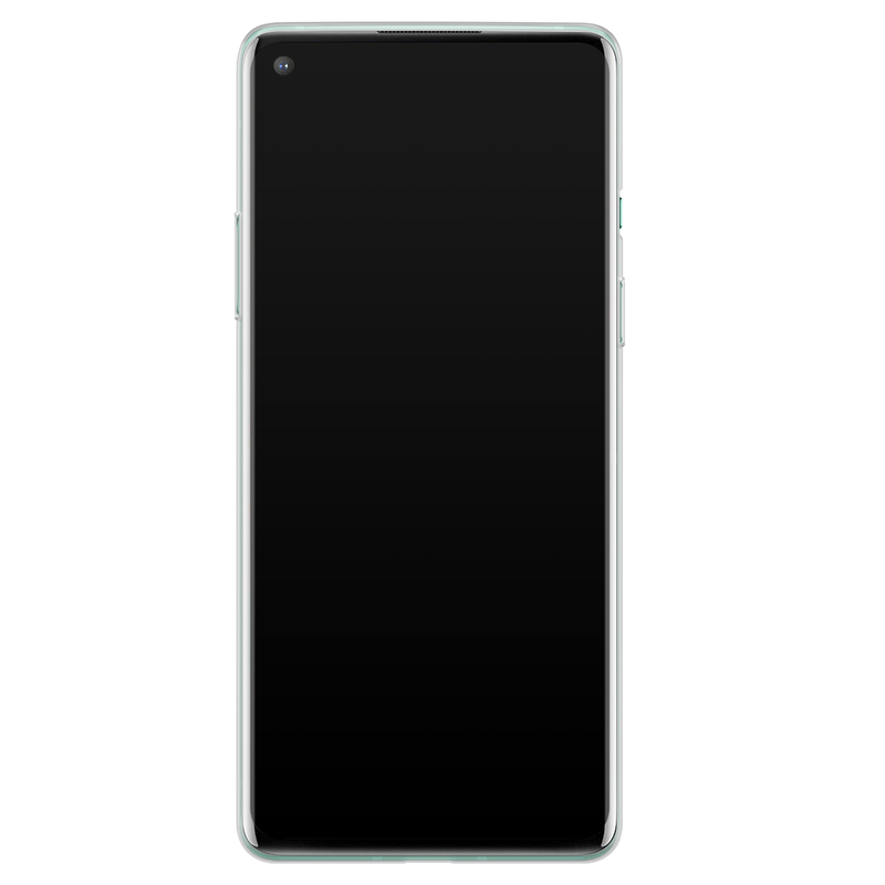 Casimoda OnePlus 8 siliconen hoesje - Marmer zwart