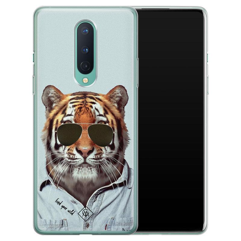 Casimoda OnePlus 8 siliconen hoesje - Tijger wild
