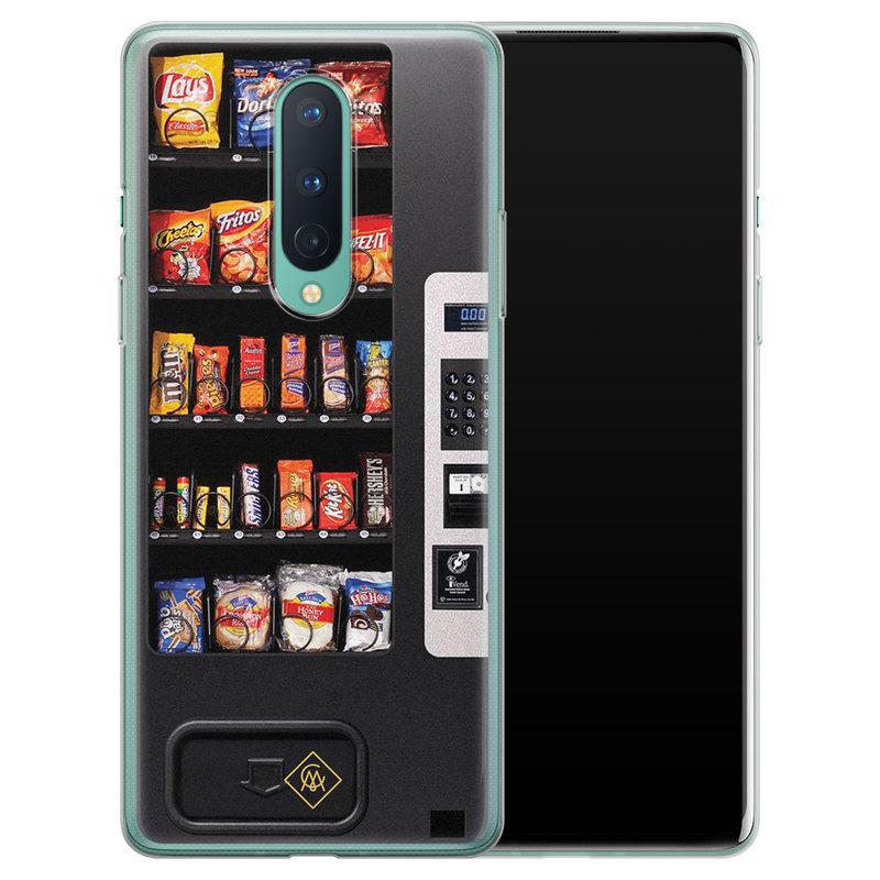 Casimoda OnePlus 8 siliconen hoesje - Snoepautomaat