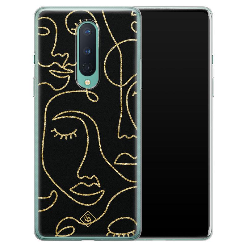 Casimoda OnePlus 8 siliconen hoesje - Abstract faces