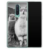 Casimoda OnePlus 8 siliconen telefoonhoesje - Llama hipster