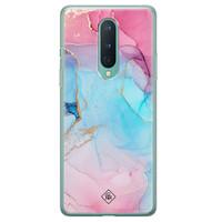 Casimoda OnePlus 8 siliconen hoesje - Marble colorbomb