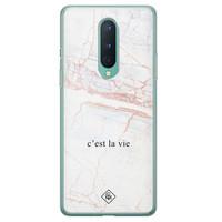 Casimoda OnePlus 8 siliconen telefoonhoesje - C'est la vie