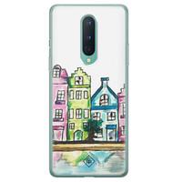 Casimoda OnePlus 8 siliconen telefoonhoesje - Amsterdam