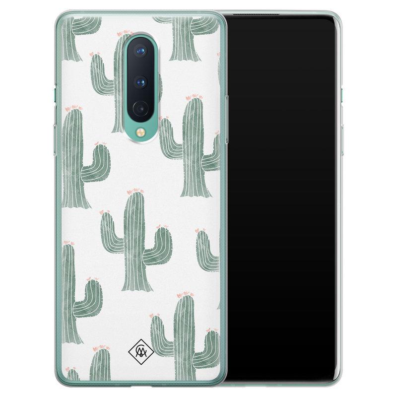 Casimoda OnePlus 8 siliconen telefoonhoesje - Cactus print