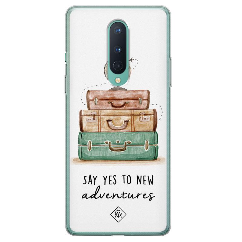 Casimoda OnePlus 8 siliconen hoesje - Wanderlust