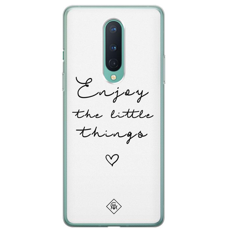 Casimoda OnePlus 8 siliconen hoesje - Enjoy life