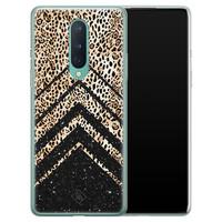 Casimoda OnePlus 8 siliconen hoesje - Chevron luipaard