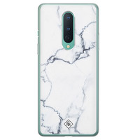 Casimoda OnePlus 8 siliconen hoesje - Marmer grijs