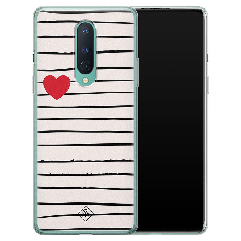 Casimoda OnePlus 8 siliconen hoesje - Heart queen