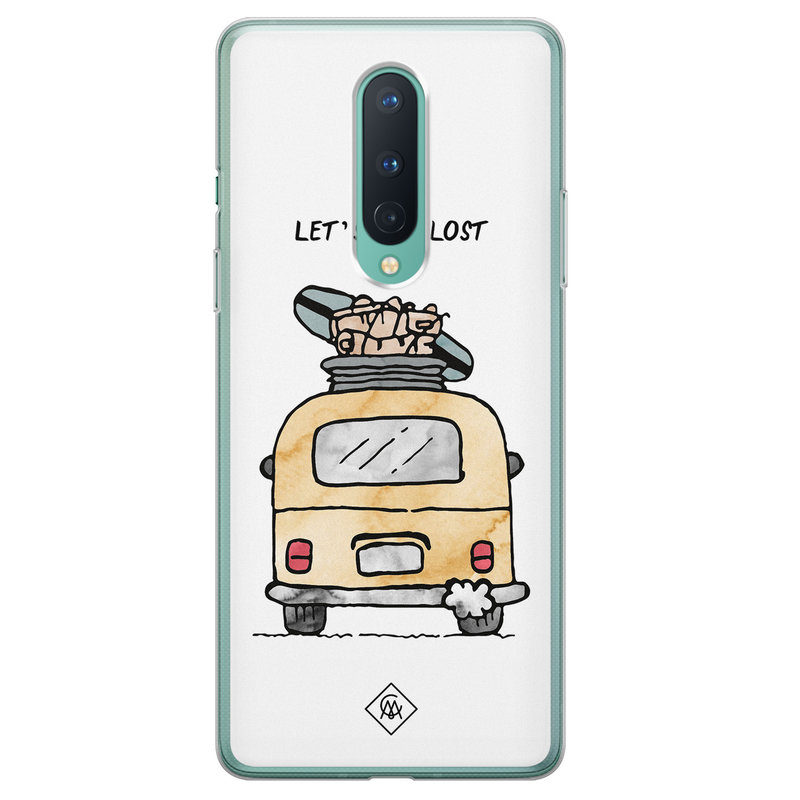 Casimoda OnePlus 8 siliconen hoesje - Let's get lost