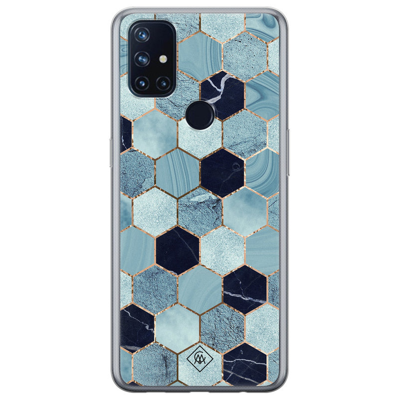 Casimoda OnePlus Nord N10 5G siliconen hoesje - Blue cubes