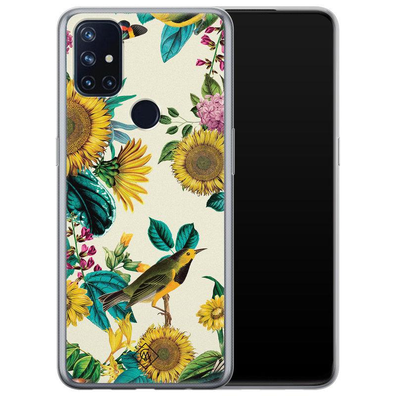 Casimoda OnePlus Nord N10 5G siliconen hoesje - Sunflowers
