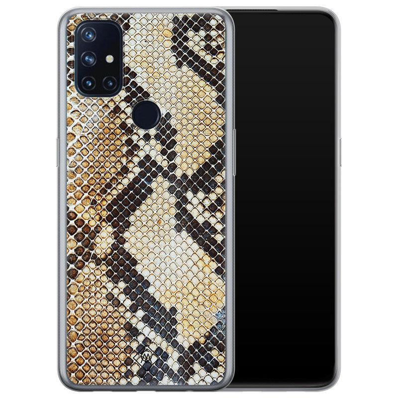 Casimoda OnePlus Nord N10 5G siliconen hoesje - Golden snake