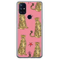 Casimoda OnePlus Nord N10 5G siliconen hoesje - The pink leopard