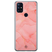 Casimoda OnePlus Nord N10 5G siliconen hoesje - Marmer roze