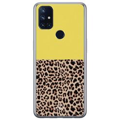 Casimoda OnePlus Nord N10 5G siliconen hoesje - Luipaard geel