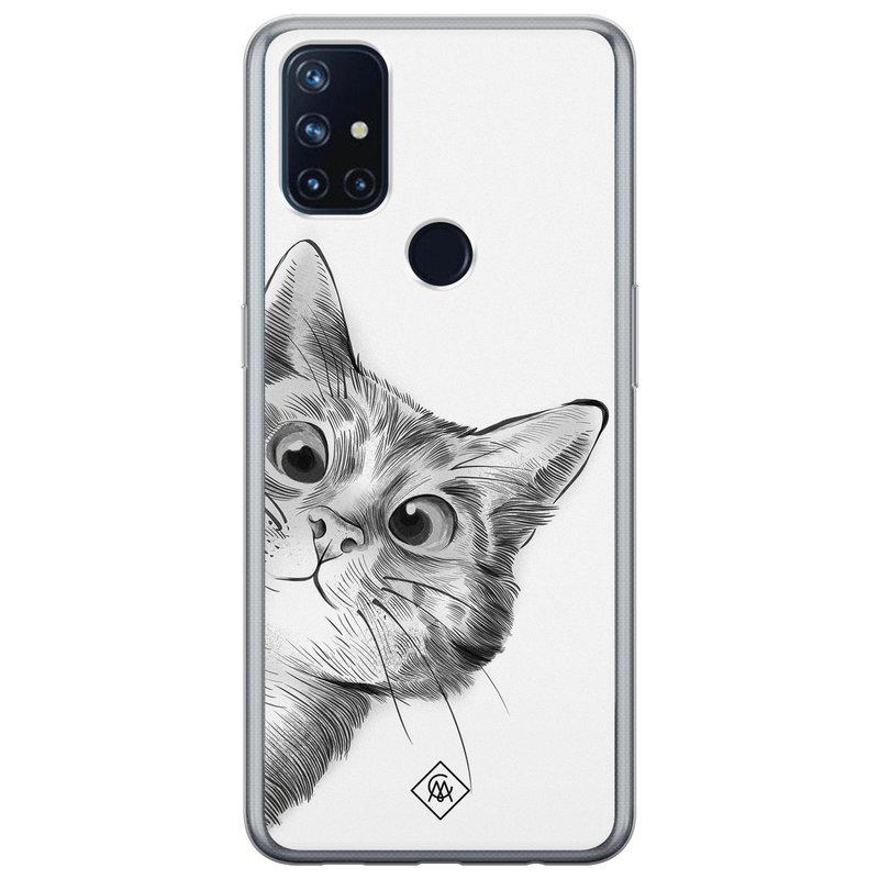 Casimoda OnePlus Nord N10 5G siliconen hoesje - Peekaboo