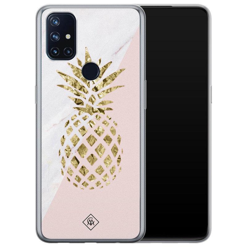 Casimoda OnePlus Nord N10 5G siliconen hoesje - Ananas