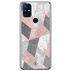 Casimoda OnePlus Nord N10 5G siliconen hoesje - Stone grid