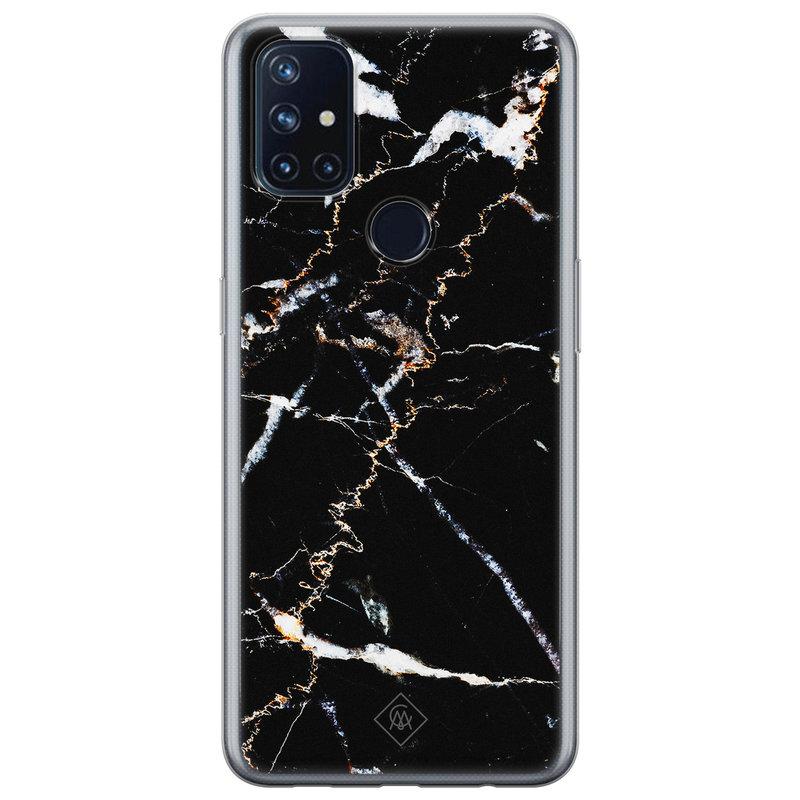 Casimoda OnePlus Nord N10 5G siliconen hoesje - Marmer zwart