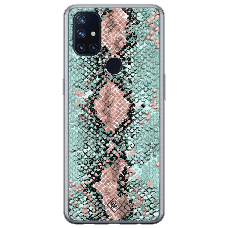 Casimoda OnePlus Nord N10 5G siliconen hoesje - Snake pastel