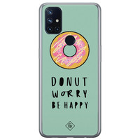 Casimoda OnePlus Nord N10 5G siliconen hoesje - Donut worry