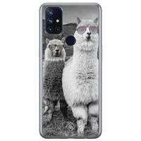 Casimoda OnePlus Nord N10 5G siliconen telefoonhoesje - Llama hipster