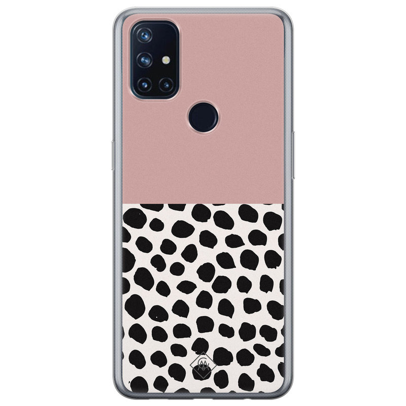 Casimoda OnePlus Nord N10 5G siliconen hoesje - Pink dots