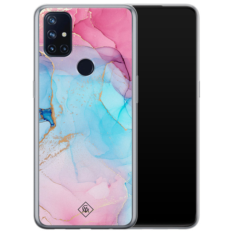 Casimoda OnePlus Nord N10 5G siliconen hoesje - Marble colorbomb