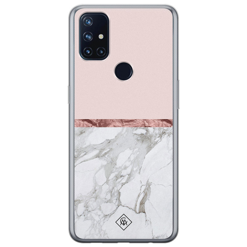 Casimoda OnePlus Nord N10 5G siliconen telefoonhoesje - Rose all day