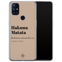 Casimoda OnePlus Nord N10 5G siliconen hoesje - Hakuna matata