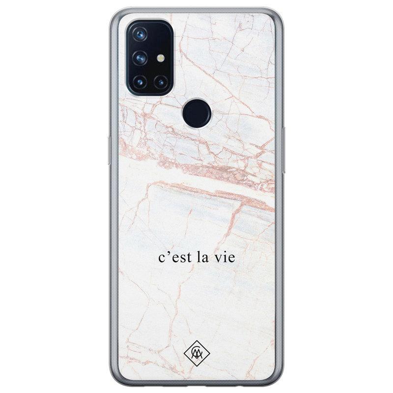 Casimoda OnePlus Nord N10 5G siliconen telefoonhoesje - C'est la vie