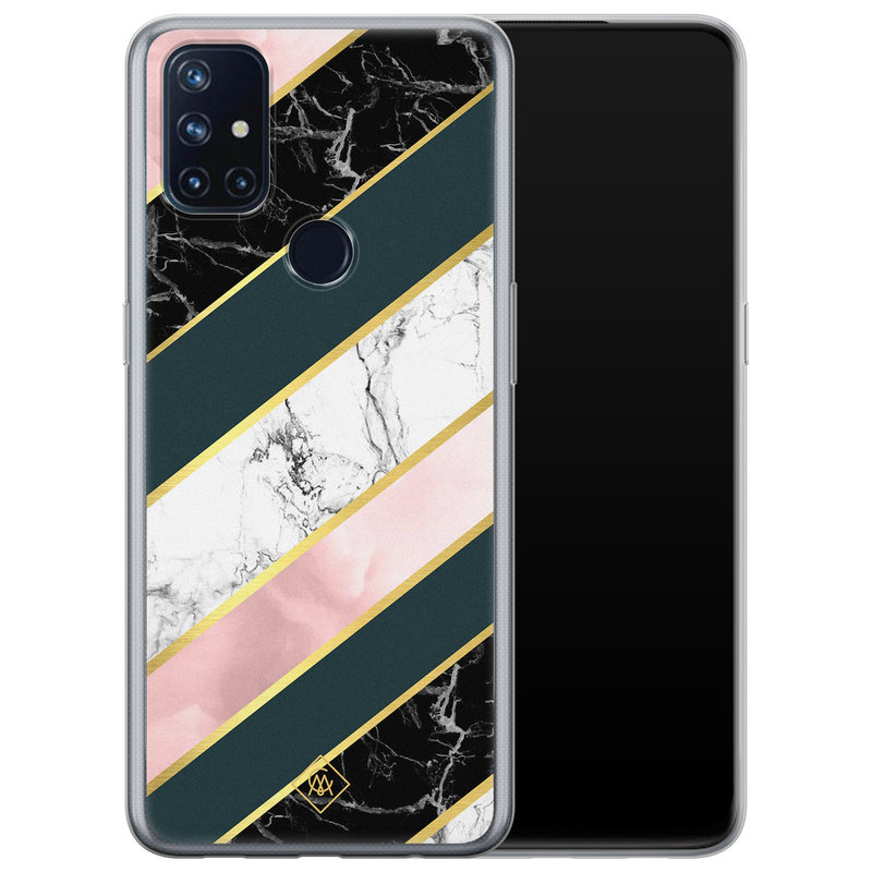 Casimoda OnePlus Nord N10 5G siliconen hoesje - Marble stripes