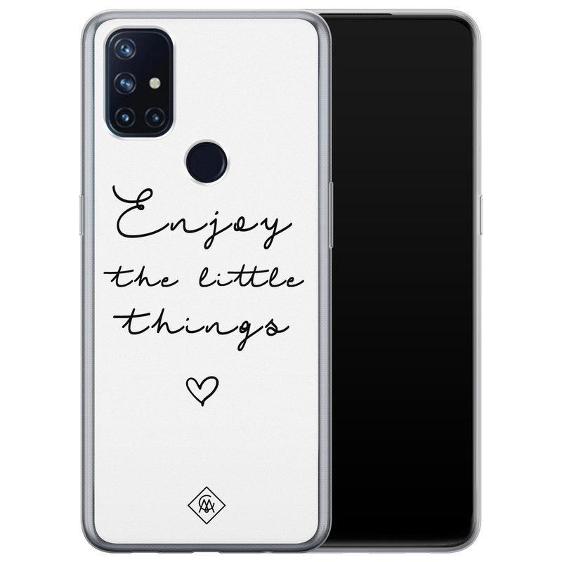 Casimoda OnePlus Nord N10 5G siliconen hoesje - Enjoy life