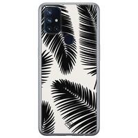 Casimoda OnePlus Nord N10 5G siliconen telefoonhoesje - Palm leaves silhouette