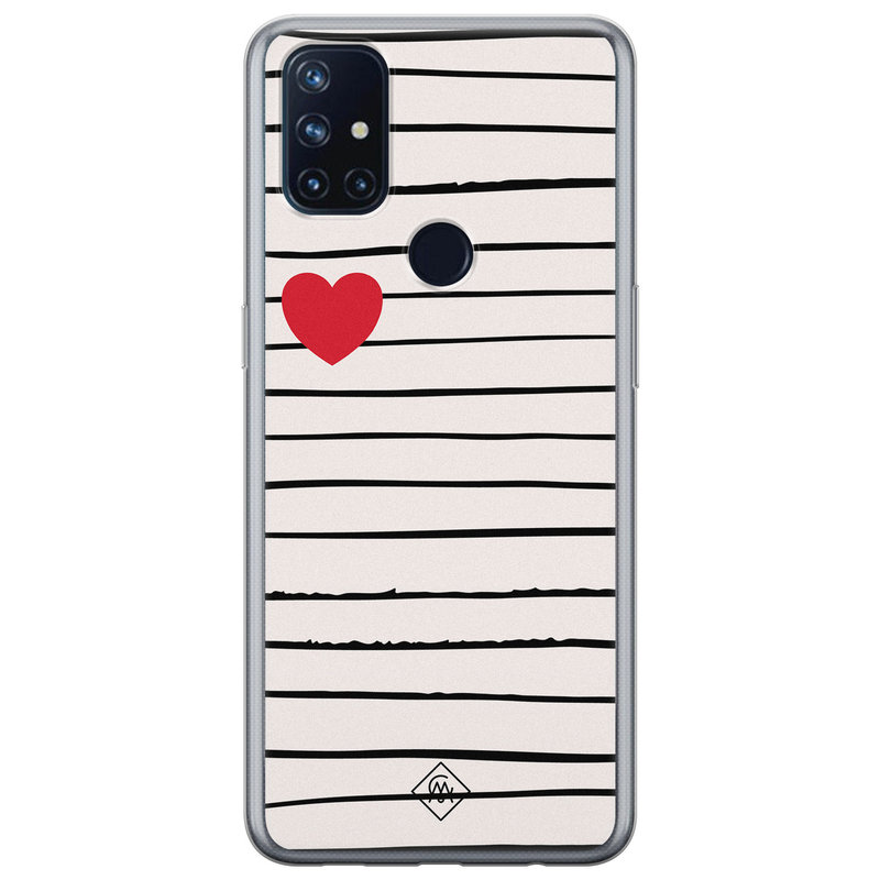 Casimoda OnePlus Nord N10 5G siliconen hoesje - Heart queen