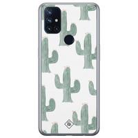 Casimoda OnePlus Nord N10 5G siliconen telefoonhoesje - Cactus print