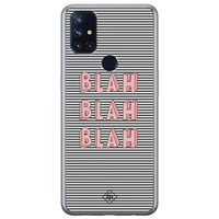 Casimoda OnePlus Nord N10 5G siliconen telefoonhoesje - Blah blah blah