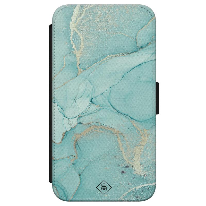 Casimoda iPhone X/XS flipcase hoesje - Touch of mint