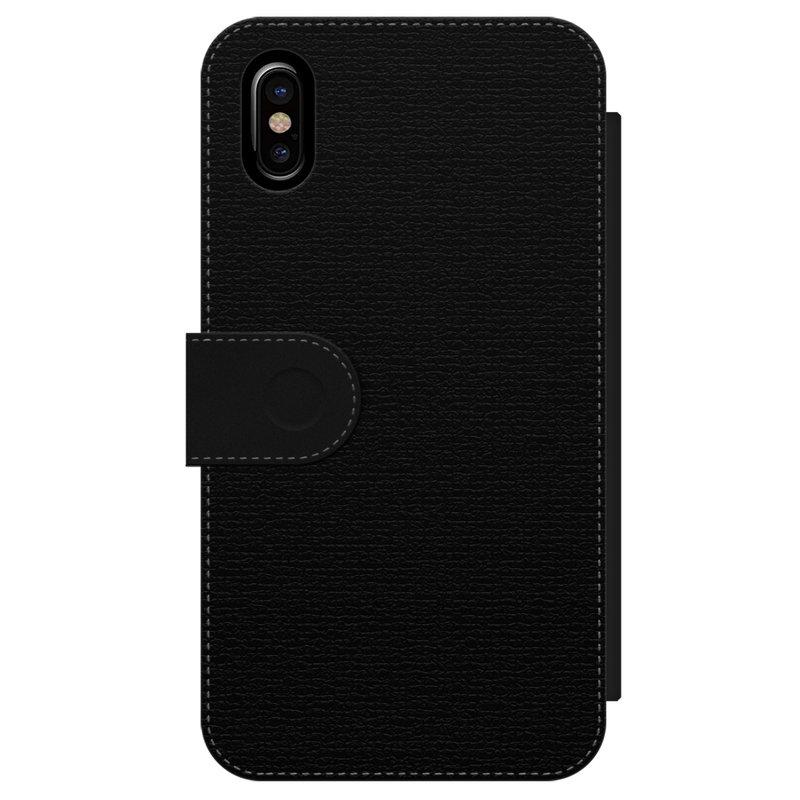Casimoda iPhone X/XS flipcase - Luipaard chevron