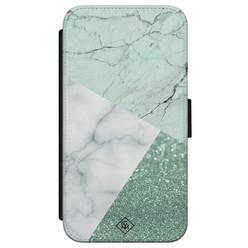 Casimoda iPhone X/XS flipcase - Minty marmer collage