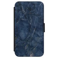 Casimoda iPhone X/XS flipcase - Marmer navy blauw
