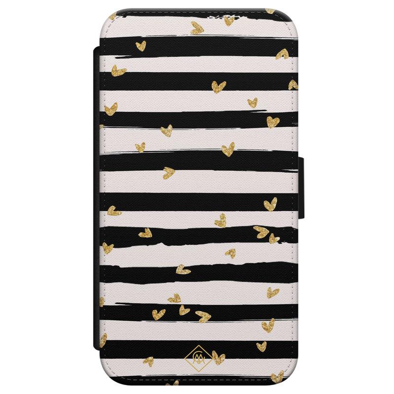 Casimoda iPhone X/XS flipcase - Hart streepjes