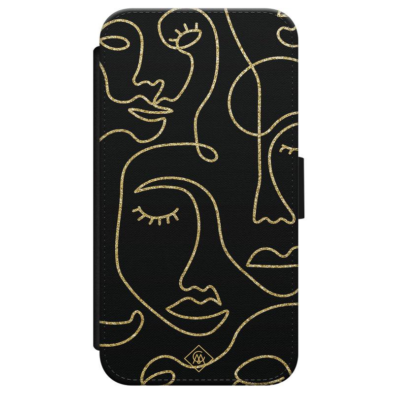 Casimoda iPhone X/XS flipcase - Abstract faces