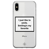Casimoda iPhone X/XS transparant hoesje - Always smiling
